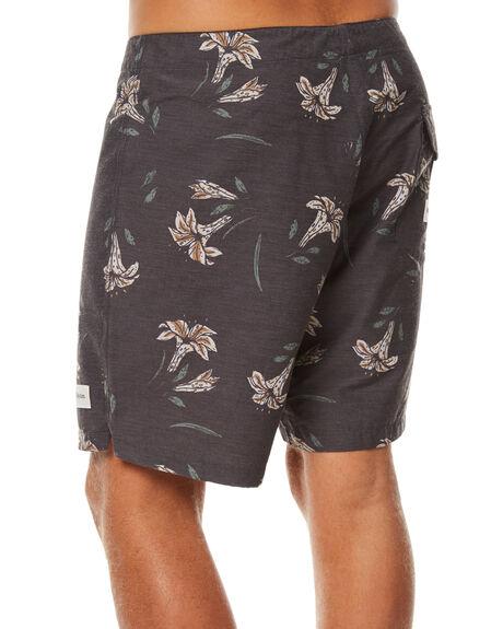 BLACK MENS CLOTHING RHYTHM BOARDSHORTS - JUL17-TR08-BLK