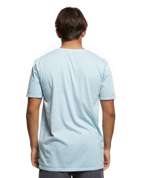 AIRY BLUE MENS CLOTHING QUIKSILVER TEES - EQYKT03902-BFA0