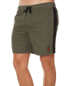 WASHED MILITARY MENS CLOTHING RVCA BOARDSHORTS - R171407WMY