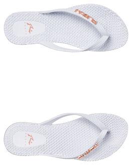 WHITE WOMENS FOOTWEAR RUSTY THONGS - FOL0125-WH2