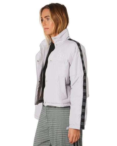 WARM GREY WOMENS CLOTHING STUSSY JACKETS - ST196706WGRY