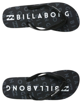 BLACK MENS FOOTWEAR BILLABONG THONGS - 9681937BLK