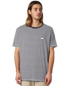 BLACK STRIPE MENS CLOTHING BARNEY COOLS TEES - 101-CR2BSTRP