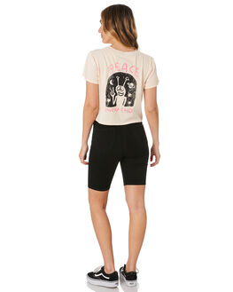 LIGHT PEACH WOMENS CLOTHING VOLCOM TEES - B3512004LPC