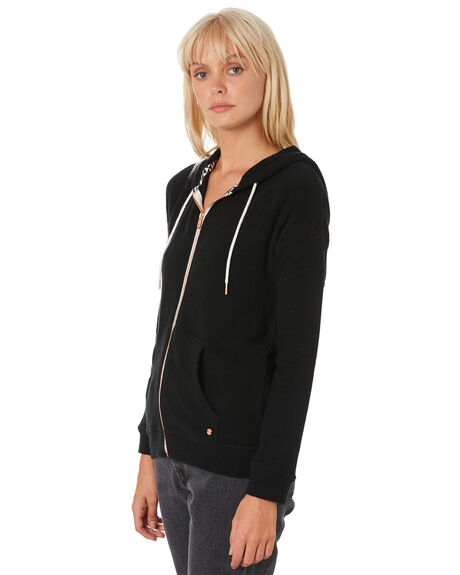 BLACK WOMENS CLOTHING VOLCOM JUMPERS - B3111802BLK