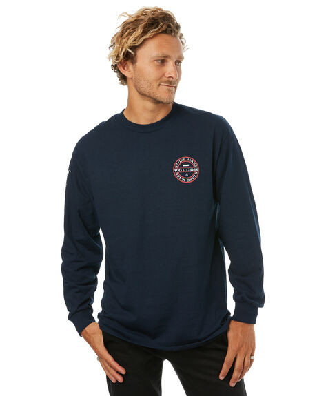NAVY MENS CLOTHING VOLCOM TEES - A36417V4NVY