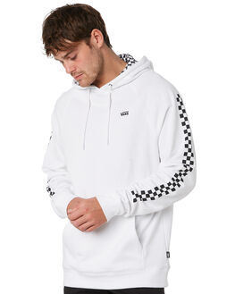 WHITE CHECKERBOARD MENS CLOTHING VANS JUMPERS - VNA3HPZTDCWHTCH