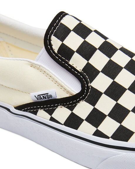 BLACK WHITE CHECKER MENS FOOTWEAR VANS SKATE SHOES - SSVN-0EYEBWWM1