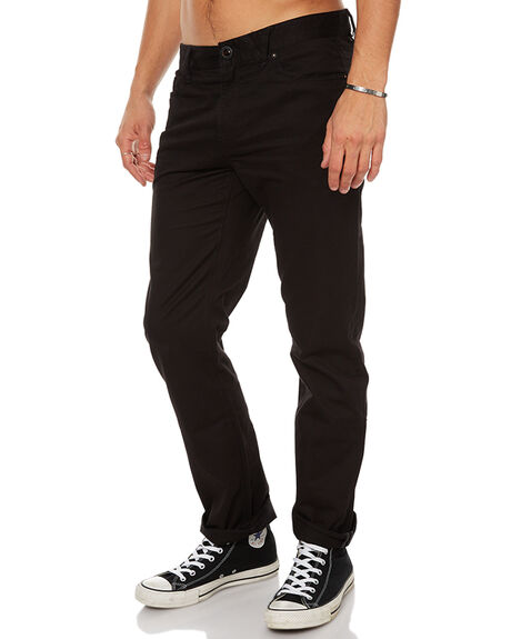 BLACK MENS CLOTHING VOLCOM PANTS - A1111703BLK