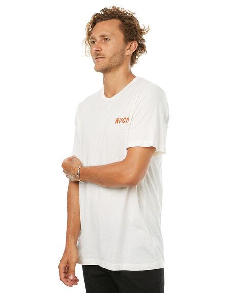 VINTAGE WHITE MENS CLOTHING RVCA TEES - R172051AVWHT