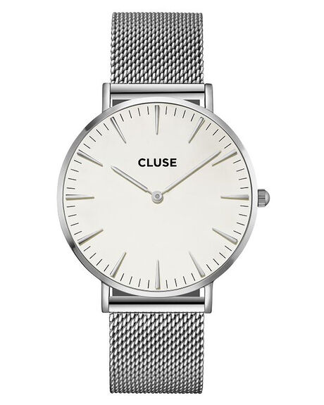 SILVER WHITE MENS ACCESSORIES CLUSE WATCHES - MCL18105SL