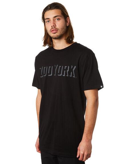 BLACK MENS CLOTHING ZOO YORK TEES - ZY-MTC8166BLK