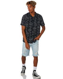 BLACK MENS CLOTHING LEE SHIRTS - 601981602