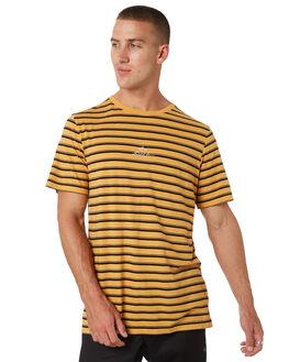 HONEY GOLD MENS CLOTHING RVCA TEES - R193048HNYGD