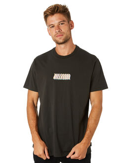 BLACK MENS CLOTHING BILLABONG TEES - 9595015BLK