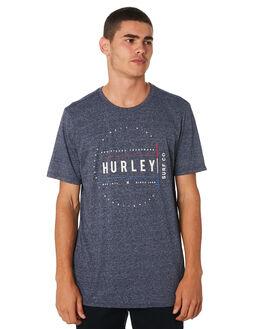 OBSIDIAN HEATHER MENS CLOTHING HURLEY TEES - AR5472473