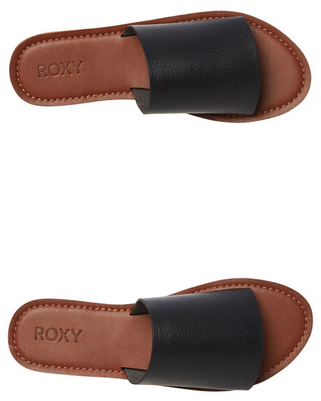 BLACK WOMENS FOOTWEAR ROXY FASHION SANDALS - ARJL200654BLK