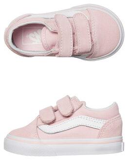 CHALK PINK WHITE KIDS TODDLER GIRLS VANS FOOTWEAR - VNA344KQ7KPNKW