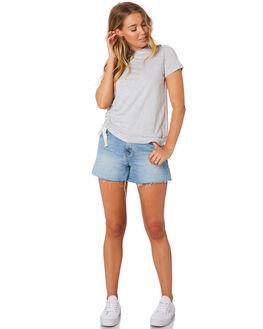 GREY MARLE WOMENS CLOTHING NUDE LUCY TEES - NU23554GRYM