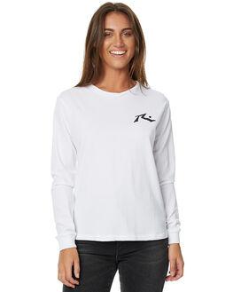 WHITE WOMENS CLOTHING RUSTY TEES - TTL0886WHT