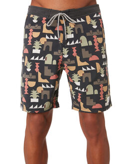 BLACK WASH MENS CLOTHING KATIN BOARDSHORTS - TRVIL05BLKWS