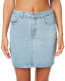 STONE BLUE WOMENS CLOTHING AFENDS SKIRTS - 52-03-043STB