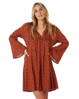 RUST SPOT WOMENS CLOTHING O'NEILL DRESSES - 5921601RSP