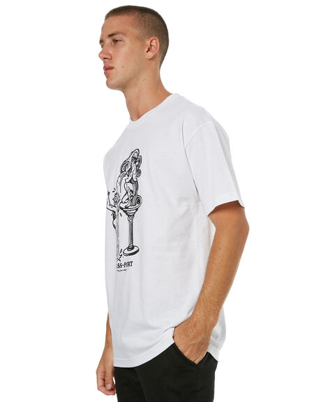 WHITE MENS CLOTHING PASS PORT TEES - FINERWHT