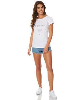 WHITE WOMENS CLOTHING ZOO YORK TEES - ZY-WTC7236WHT