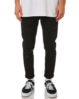 ROGUE BLACK MENS CLOTHING A.BRAND JEANS - 809823118