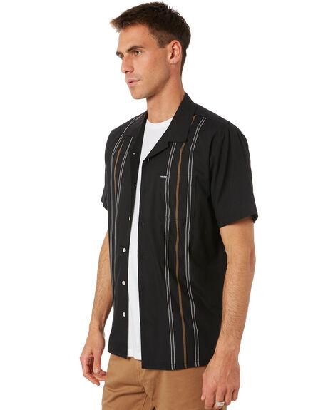 BLACK MENS CLOTHING VOLCOM SHIRTS - A0432003BLK