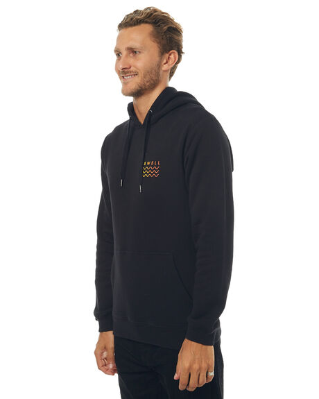 BLACK MENS CLOTHING SWELL JUMPERS - S5171443BLK