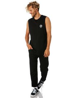 BLACK MENS CLOTHING LOWER SINGLETS - LO18Q4MSI01BLK
