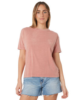 DUSTY ROSE WOMENS CLOTHING RIP CURL TEES - GTEHR90577