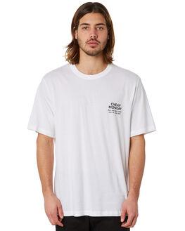 WHITE MENS CLOTHING CHEAP MONDAY TEES - 0588064WHT