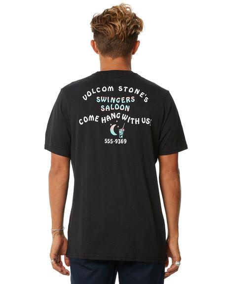 BLACK MENS CLOTHING VOLCOM TEES - A5011876BLK