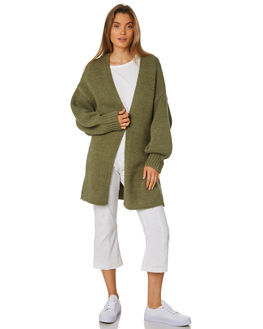 KHAKI WOMENS CLOTHING ZULU AND ZEPHYR KNITS + CARDIGANS - ZZ2450KKHA