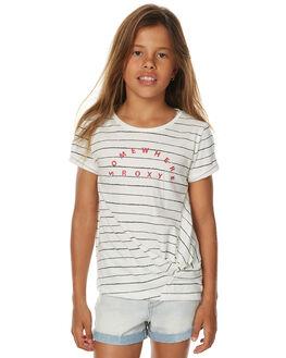 MARSHMALLOW KIDS GIRLS ROXY TEES - ERGZT03234XWKK