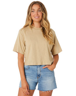 DEEP SAND WOMENS CLOTHING NUDE LUCY TEES - NU23557DSND