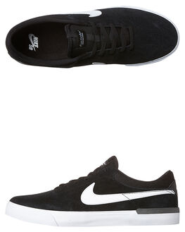 BLACK WHITE MENS FOOTWEAR NIKE SKATE SHOES - 844447-001