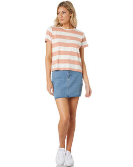 BRONZE STRIPE WOMENS CLOTHING ALL ABOUT EVE TEES - 6444066STR2