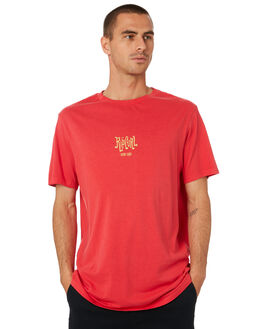 BRIGHT RED MENS CLOTHING RIP CURL TEES - CTEJJ94851