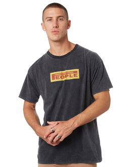 SMASHED BLACK MENS CLOTHING THE PEOPLE VS TEES - AW19073SMBLK