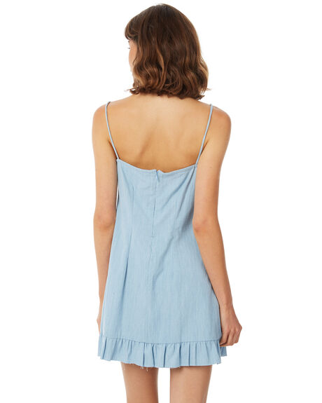 LIGHT CHAMBRAY OUTLET WOMENS RUE STIIC DRESSES - SA18-23-LC-CHAM
