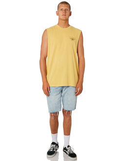 HERITAGE YELLOW MENS CLOTHING THRILLS SINGLETS - TS8-119KHEYEL