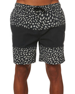 BLACK MENS CLOTHING GLOBE BOARDSHORTS - GB01928001BLK