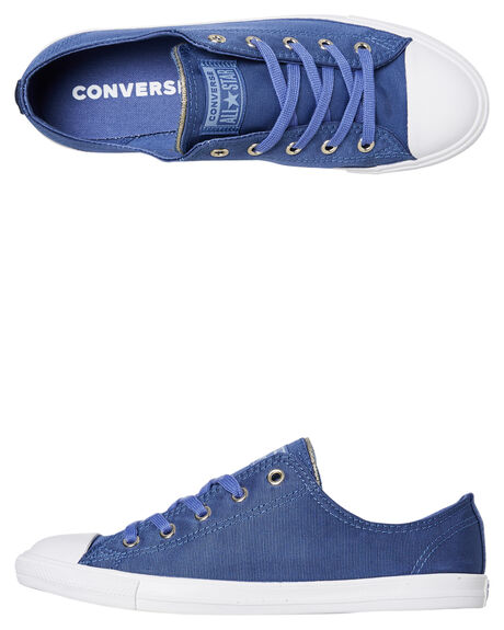WASHED INDIGO WOMENS FOOTWEAR CONVERSE SNEAKERS - 564308CWIND