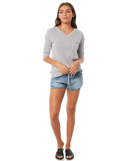 MEDIUM BLUE WOMENS CLOTHING ROXY SHORTS - ERJDS03152BGY0