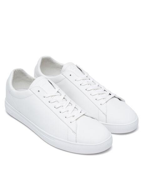 TRIPLE WHITE LEATHER MENS FOOTWEAR CLAE FASHION SHOES - CL20ABR01WWL