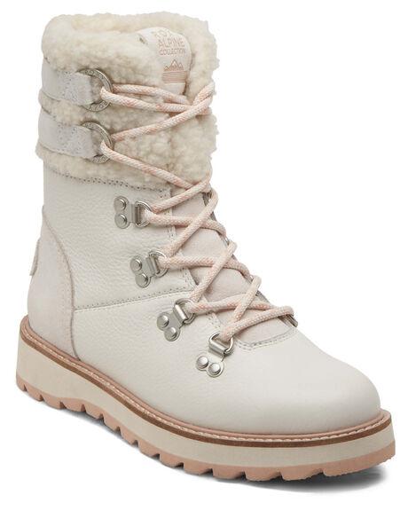 OFF WHITE WOMENS FOOTWEAR ROXY BOOTS - ARJB700700-BO4